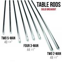 Wholesale Silver Chromed Solid 5 / 8 Inch Steel Rods For Standard Foosball Tables from china suppliers
