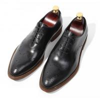 Wholesale Handmade Patent Wedding Mens Leather Dress Shoes Oxfords Style With Black Striped from china suppliers