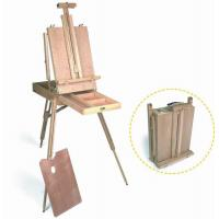 Wholesale Wooden Painting Easel Art Stand , French Sketch Box Easel With Palette Belt Aluminium Tray from china suppliers