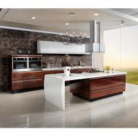 Wholesale Marble Countertop Closeout Wood Veneer Kitchen Cabinets , Rosewood Kitchen Cupboards from china suppliers
