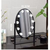 Wholesale Professional Cosmetic Led MakeUp Mirror With Round Border 10 LED Bulbs from china suppliers