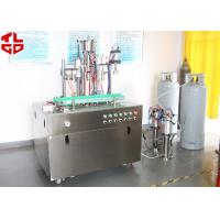 Wholesale Efficient Can Filling Machine For Adhesive Remover Spray Semi Automatic 800-1100cans/Hour from china suppliers