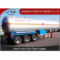 Wholesale FUWA / BPW Tri -  Axle LPG Tank Trailer Design Pressure 1.61MPa 50000 / 60000 Liters from china suppliers