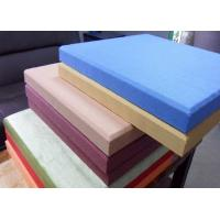 Quality Eco Friendly Fabric Acoustic Panel , Sound Absorption Glass Wool Panel for sale