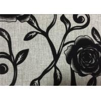 Wholesale Rosemary Flock Print Fabric Plain Weave Fabrics 210gsm Weight from china suppliers