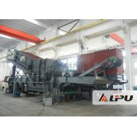 Wholesale Trailer Mounted Mobile Crushing Plant , Double Axle Portable Stone Crusher from china suppliers