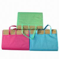 China New style 2-folding straw beach mats, easy to carry/made of straw, 180x90cm/low price for promotions  on sale