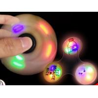 Quality Promotion Gift Fidget Spinner Toy With LED Flash, Unique Switch Design,Avoid the Battery Lost, 50K Units Day Output for sale