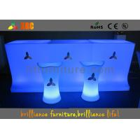 Wholesale RGB Waterproof LED Bar Tables , RGB Changing Rechargeable LED Cocktail Table from china suppliers