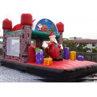 Wholesale Santa Claus House Inflatable Outdoor Bouncy Castle For Funny Christmas Activity from china suppliers