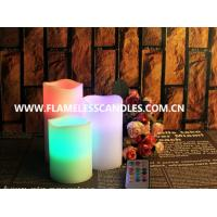 Quality Set of 3 Color Changing Candles With 18 Function Remote for sale