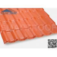 Wholesale Hard Spanish Resin Roof Tile Waterroof Orange Clean 1050mm Width from china suppliers
