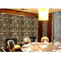 Wholesale Deep embossed PVC dining room wallpaper 3D stone effect low flammability from china suppliers