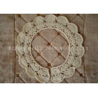 Wholesale Round Crochet Accessories Hollow Out Crochet Lace Collar With Scallop Edge from china suppliers