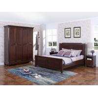Wholesale Rubber Wood Furniture Thailand solid wood King/Queen Bed in Leisure American style with Nightstand and Wardrobe from china suppliers