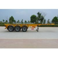 Quality 40 Feet Container Carrying Flat Bed Semi Trailer With 28ton JOST Landing Leg for sale