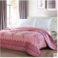 Wholesale Burnout Bedding Article Double - Sided Edged Flannel Quilts Patterns Tree / Flower from china suppliers