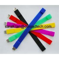 Wholesale Customized 100% Real Capacity Silicone Bracelet USB Flash Drives from china suppliers