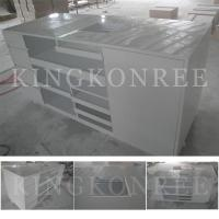 Wholesale solid surface shoping market checkout counters from china suppliers