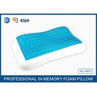 Wholesale Contour memory foam cooling gel pillow in Summer for relieving neck fatigue from china suppliers