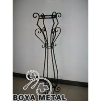 Quality Black Forged Iron Flower Pot Stands for sale