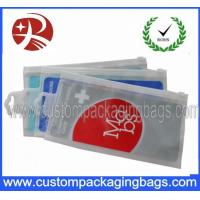 Wholesale OEM Resealable Gravure Printing CPE Plastic Hanger Bags With Slider from china suppliers