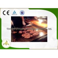 Wholesale Custom 1.1M S/S Mobile Teppanyaki Grill For Mutton Chicken Fish Shellfish from china suppliers