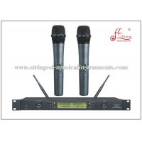 Wholesale 50M Received Audio PA Systems Black FM Hanheld UHF Wireless Microphone from china suppliers