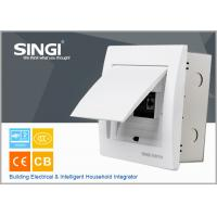 Wholesale 6 ways electrical distribution box design flexibly U-tape frame power distribution box singi ivorywhite distribution box from china suppliers
