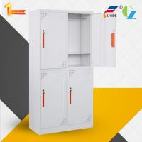 Quality 2 door steel locker for employee changing clothes/storage shoes/storage private goods/whtie color/KD structure for sale