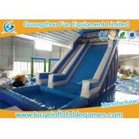 Wholesale Giant Commercial Inflatable Slide / Blue Inflatable Swimming Pool Water Slide from china suppliers