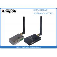 Wholesale 1200mW Analog Video Transmitter , 5.8Ghz Wireless CCTV Video Transmitter & Receiver from china suppliers