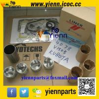 Wholesale Kubota V1505 piston +ring+liner+full gasket kit with head gasket for KH71 KX71H KX91 excavator engine overhual rebuild from china suppliers