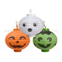 Customized Traditional Round Paper Lanterns for Halloween Decoration