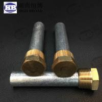 Wholesale Yanmar 119574 44150 E-1F 119574 18790  E-2 Zinc anode bar with Hex brozen plug from china suppliers
