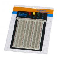 Wholesale DIY 2390 Points Transparent Breadboard With Blue / Red Contacts from china suppliers