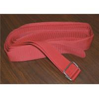 Wholesale Colored Heavy Duty Webbing Strap , Polyester Sew On Hook And Loop Strap With Stainless Steel Buckle from china suppliers