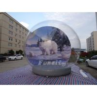 Buy cheap Christmas Outdoor Decoration 5M Giant Inflatable Human Snow Globe from wholesalers