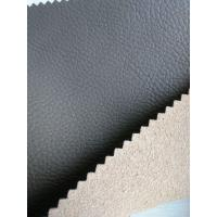 Wholesale Perforated Leather Material With Real Leather Effect , Black Leather Fabric from china suppliers
