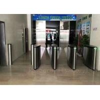 Buy cheap Optical Subway Turnstile Barrier / Flap Barrier And Speed Pedestrian Gate Access Control from wholesalers