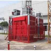 Wholesale Double Cage Building Site Hoist with 0 - 60m/min Wide Range Of Tie-in from china suppliers