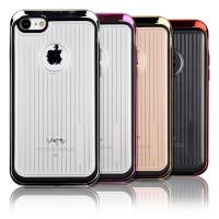 Wholesale Anti - Scratch Hard Pc Soft TPU Phone Protective Cover Electroplate Metal Texture from china suppliers