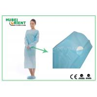 Wholesale Plastic Disposable Protective Gowns / Blue CPE Surgical Gown for Patient , CE Standard from china suppliers