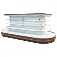 China Supermarket Island Commercial Open Display Refrigerator With Rounded Ends on sale