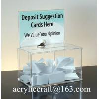 Wholesale Customed design clear acrylic ballot box with holder, perspex suggestion box from china suppliers