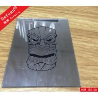 Wholesale Custom Design Silver Mirror Acrylic Sheet Laser Engraved Mirror Skull Patterns from china suppliers