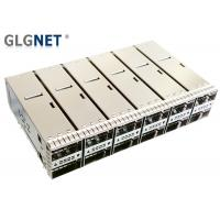 China Press Fit Monut QSFP28 Cage 2x6 Stacked Outer Light Pipe Supports 100G Ethernet on sale