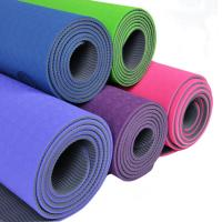 Wholesale Beautiful Extra Thick Non Slip TPE Yoga Mats With Shockproof , Anti-Skid from china suppliers