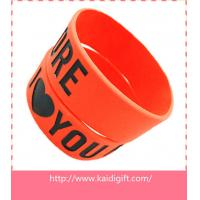Wholesale new fashion silicone arm band,1 inch silicon wrist bands from china suppliers