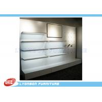 Wholesale Shop White MDF Wooden Display Racks / Shelf For Shoes , Wall Mount Display from china suppliers
